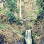 Twilight, Multnomah Falls, OR - Baseball Waterfall 2